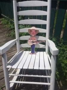Flat Dean visits the Pickin' Porch at Mosaic Learn and Play in Metamora, Indiana