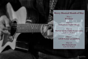 Dean Phelps Performance Schedule for May 2018
